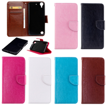 2017 Luxury Case for HTC Desire 530 2016 PU+TPU Case for HTC 530 2016 D530u X NA Solid color Wallet Flip mobile phone bag(China)
