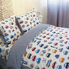 FADFAY Home Textile Cars Bedding Queen Size Train Bedding Sets Cute Kids Bedding Set Queen Size Cartoon Bedding Anime Bed Sheets(China)
