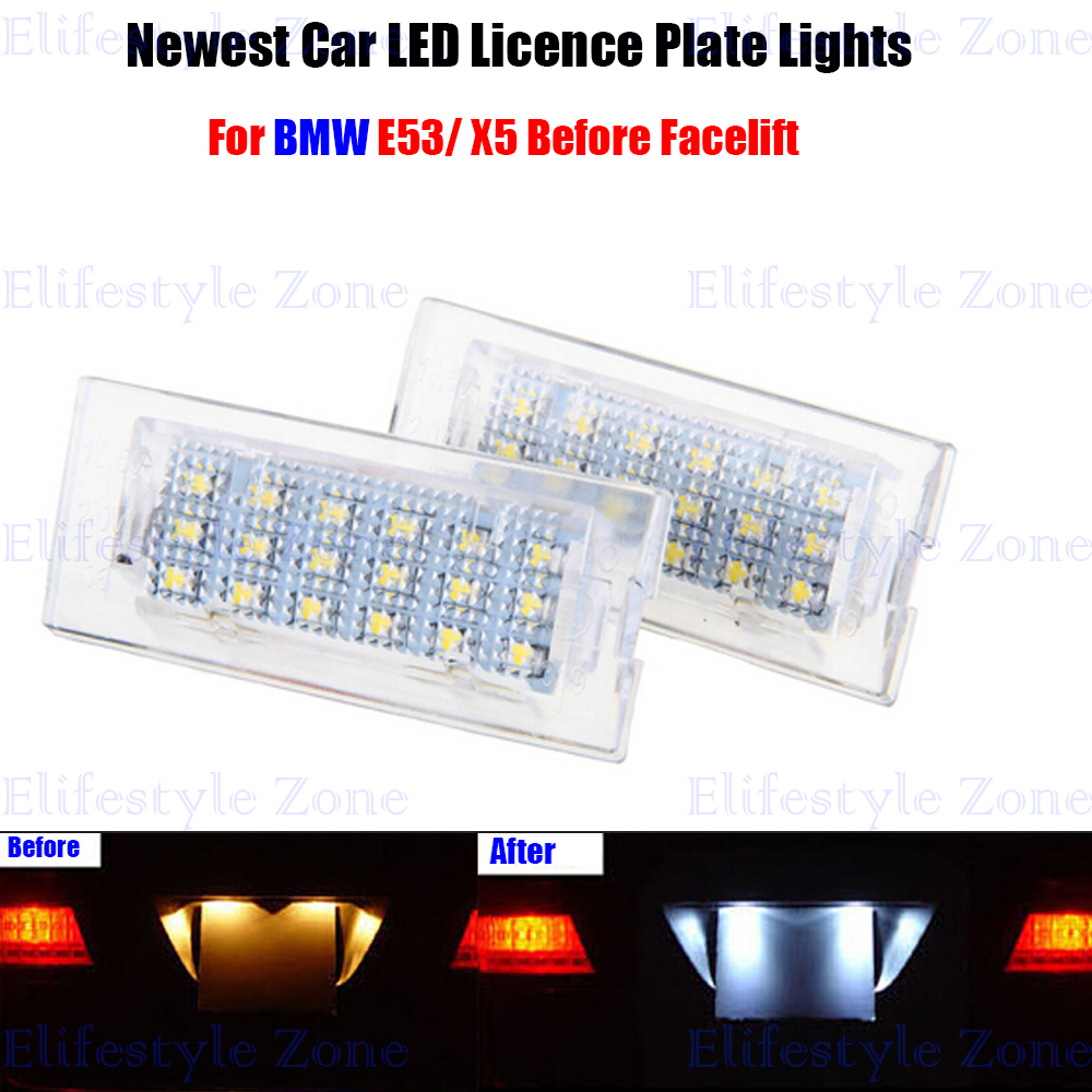 2 x LED Number License Plate Lamps OBC Error Free 18 LED For BMW E53 X5 Before Facelift<br><br>Aliexpress