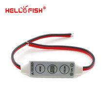 Hello Fish Single color LED strip controller mini 3 key control,Only for 3528/5050 Single color LED Strip Light