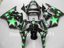 K357 Green Stars Fairing For KAWASAKI ZX-6R 00-02 ZX6R 00 01 02 ZX 6R 2000 2001 2002 6R 00 01 02