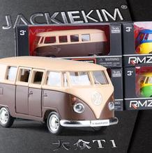 New Volkswagen T1 5-inch car model kids toy bus Classic cars pull back 13*5*5cm boy gift box RMZ city free shipping