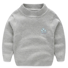 2017 New Baby Boy Girl Clothes Kids Autumn/Winter Knitted Pullovers Turtleneck Sweaters Warm Outerwear Unisex Sweaters 5 Color
