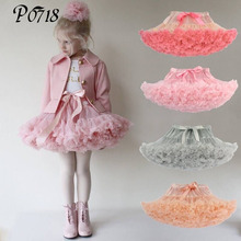 2017 New Summer Girl Tutu Skirt Wholesale 0-10 Years Children Kids Baby Girls Multilayer Bow Tulle Party Dance Cake Skirts