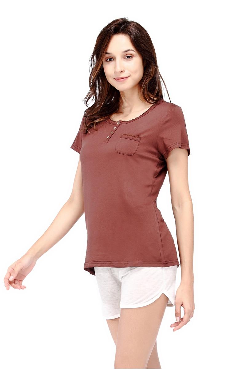 7634ee2aa23f 2019 Yusano Women Pajama All Day T Shirt Short Sleeve O Neck ...