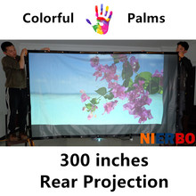 NIERBO 300 Inch PVC Screen Fold Portable Curtain HD led LCD DLP Projectors Home Theater Beamer Advertising Wall Mounted Screens