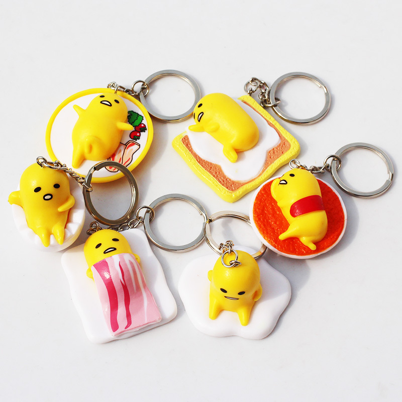 Yellow Gudetama Egg Figure Toys Lazy Eggs Toys With Key chain 4cm High Quality<br><br>Aliexpress