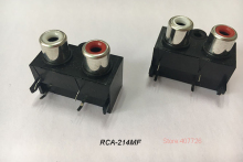 (2PCS/PACK) PCB Mount 1 Position Stereo Audio Video Jack RCA Female Connector TWO hole (W+R) RCA-214MF