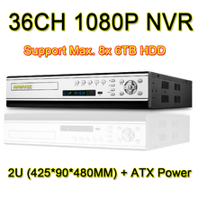Buy 36 Channel 1080P NVR Network Video Recorder 32CH 2MP H.264 CCTV NVR, Support 8pcs 6TB HDD ATX Power Supply for $527.99 in AliExpress store