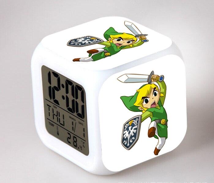 Wholesale The Legend of Zelda Figures Toy 7 Colors Changes LED Light Clock Brinquedos Action &amp; Toy Figures Children Gift<br><br>Aliexpress