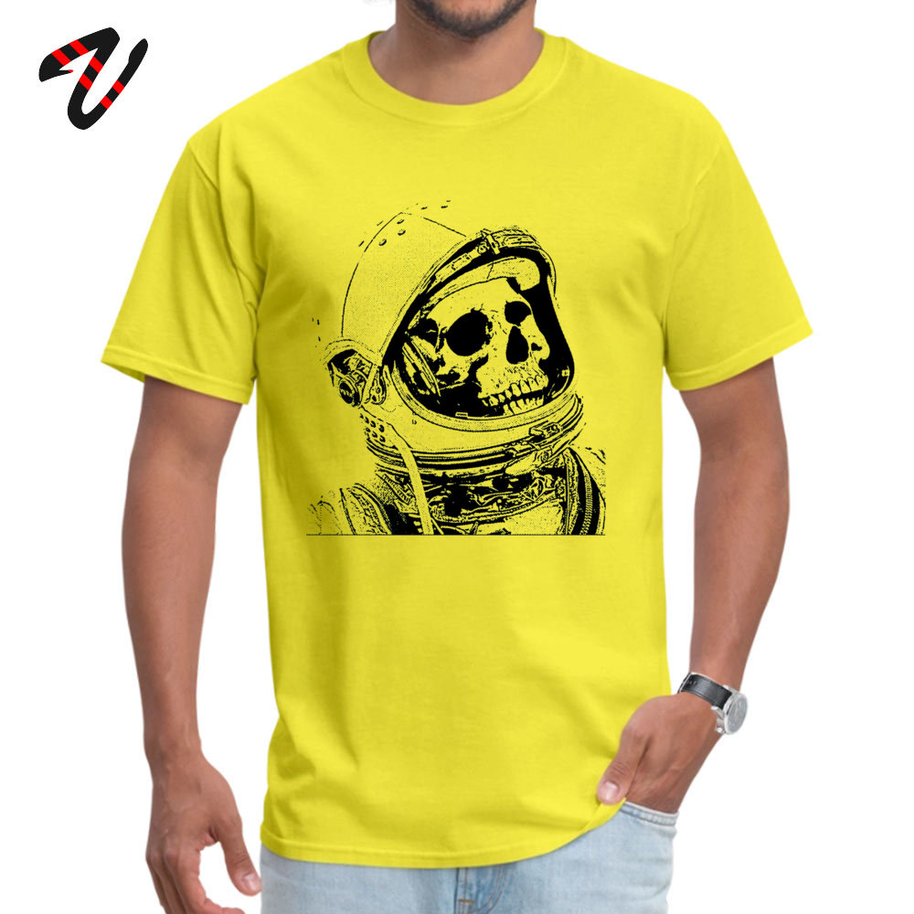 Death On Mars Top T-shirts for Men Customized Summer/Autumn Tops & Tees Short Sleeve Funky Tops Tees Crewneck Cotton Fabric Death On Mars 8712 yellow
