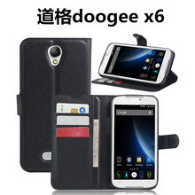 DOOGEE X6 pro pu Leather Case With Card / water / dirt proof  Wallet Flip Case With Protective  For DOOGEE bag and skin handbag
