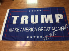 Donald Trump 3x5ft flag 100D Polyester 2016 the US Great American President Donald once again free shipping