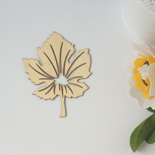 QITAI 2017 News Fashion Leaves Creative Products DIY  Products Wooden Flourish Scrapbooking Embellishment Craft Products WF023