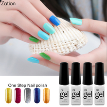 Buy Zation One Step Varnish Nail Gel 3 1 UV Gel Lacquer Colorful Nail Polish Soak Gel Polish Nails Bling Lucky Colors Enamel for $1.39 in AliExpress store