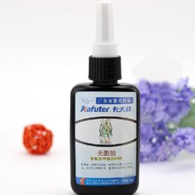 New Metal Wood Plastic Superior Strength Kafuter Strong Bonding Visible UV Light Cure Adhesive Glue