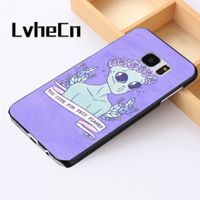 LvheCn phone case cover For Samsung Galaxy S3 S4 S5 mini S6 S7 S8 edge plus Note2 3 4 5 7 8 Funny Alien Martian Quote UFO(China)