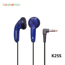 Original Boarseman K25S In-ear Earphone DIY Fever Hifi EarBuds Bass Auriculares Flat Head Earphone for iphone for xiaomi phone