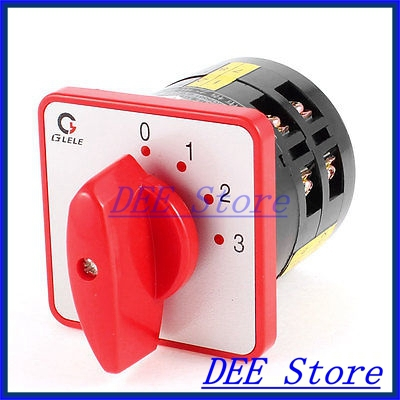 Plastic Shell AC 380V 5A 50Hz Panel Mounted Combinations Universal Switch<br><br>Aliexpress