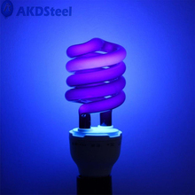 AKDSteel Spiral Energy Saving Black Light with Screw-socket UV Lamp Aquatic Products Poultry Crop Breeding Halloween Decoration(China)