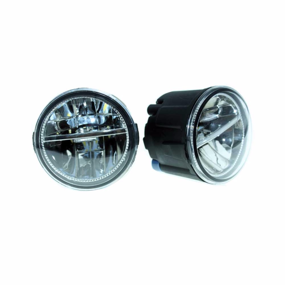 2PCS For NISSAN PATROL 3 III Y62 Closed Off-Road Vehicle 2010-2015  Front Fumper LED fog lights Car styling H11 drl led lamps<br>