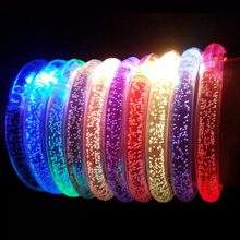 Free shipping 12pcs/lot color changing LED bracelet Light up luminous bracelet for party DJ, clubs, Children 's Toys gifts