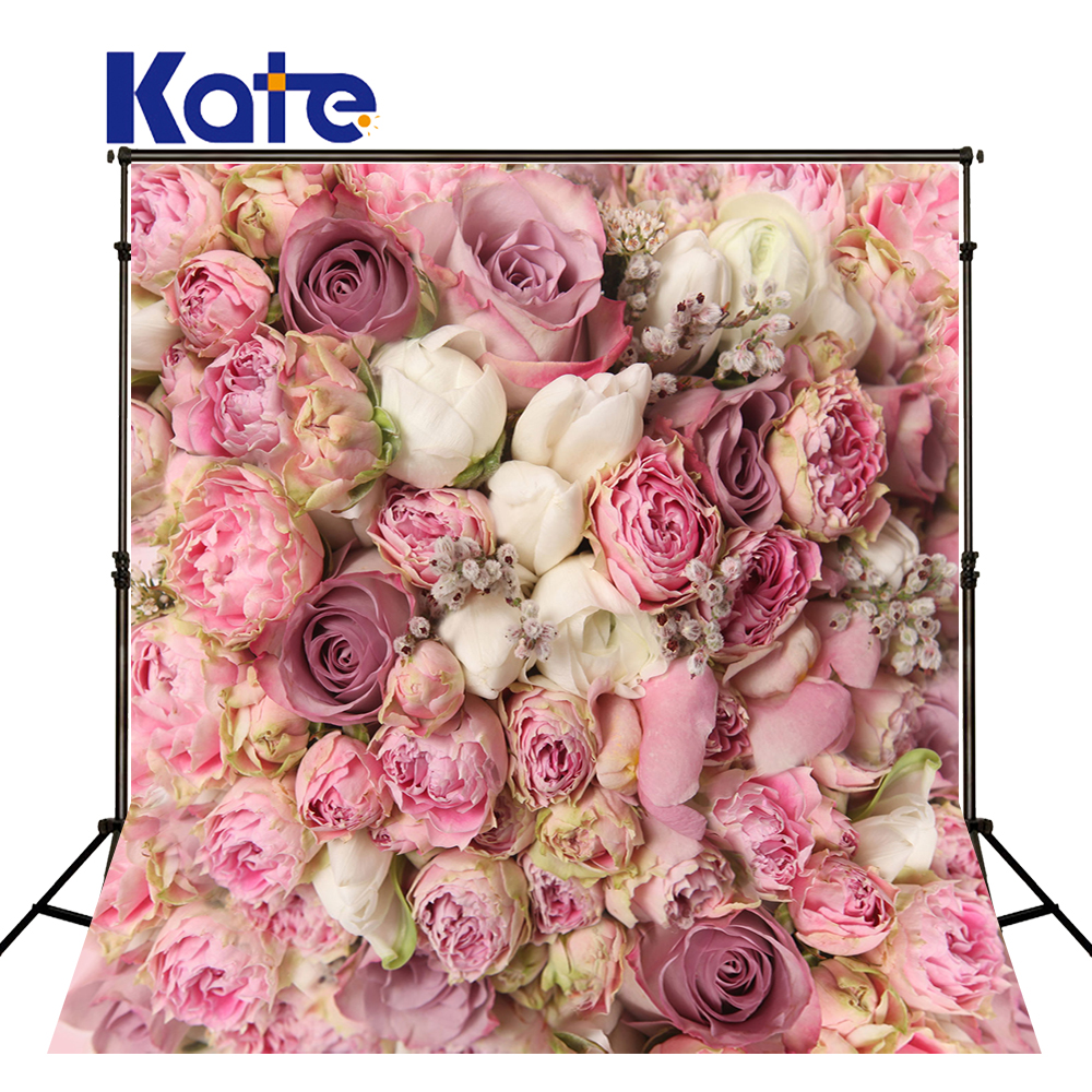 150*200Cm(5*6.5Ft)Kate Photo Studio Backdrop Thick Clothe Colorful Flowers For Wedding Kate Background Backdrop<br>