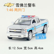 KINSMART Die Cast Metal Models/1:46 Scale/2014 Chevrolet Silverado(Police/Firefighter)toys/for children's gifts/ for collections