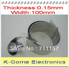 0.15mm Thickness 100mm Width Stainless Steel Sheet Plate Leaf Spring Stainless Steel Foil The Thin Tape Free Shipping(China)