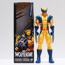 "Super Hero X-men Wolverine Iron Man PVC Action Figure Collectible Toy 12""30CM Retail Free Shipping(China)"