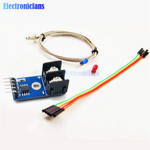 1Set MAX6675 K-type Thermocouple Temperature Sensor -200~1300C Range SPI Module 4Pins Wire 5V DC For Arduino Free Shipping