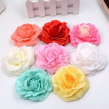 5pcs/lot Artificial high quality silk roses head home decoration wedding shoes headdress Jewelry DIY wreath artificial flowers