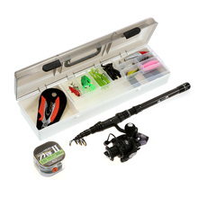 Lixada 2.1m 2.4m Fishing Rod Reel Combo Full Kits 37Pcs Soft Worm Lure Jig Hooks Crank Hook Fishing Gear In Storage Box Pesca(China)