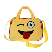 Emoji Face Kids Handbags School Bag For Teenagers Girls Children Cute Handbag Crossbody Messenger Bags Bolsos