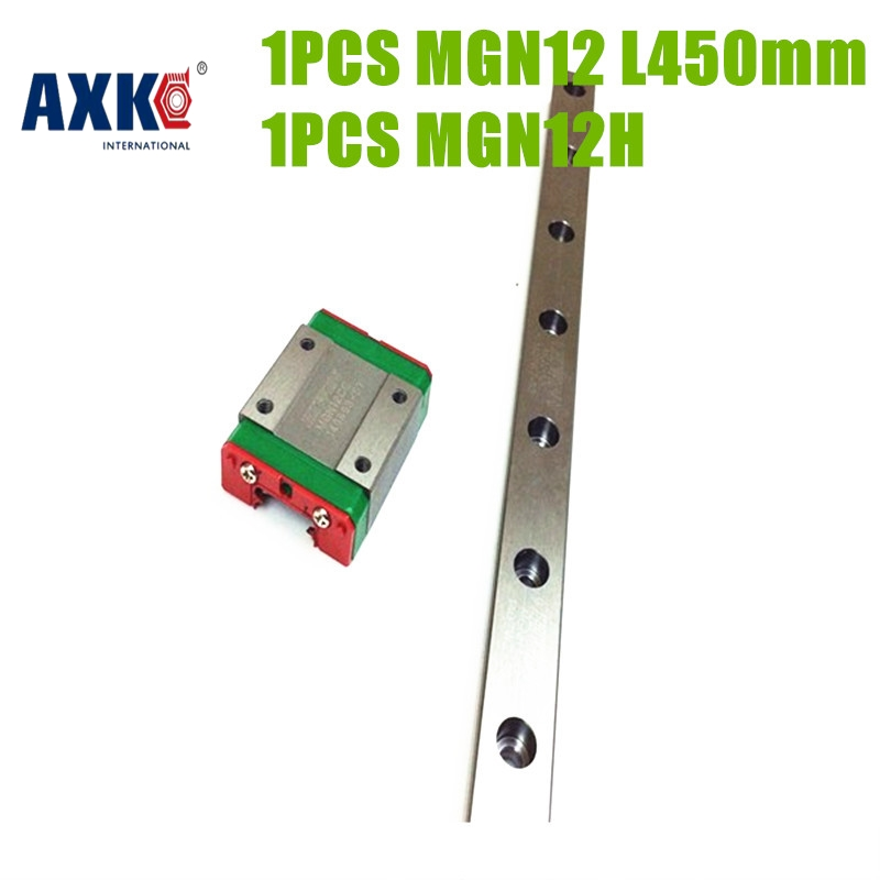 2017 Sale Rodamientos Axk Hot Selling Linear Guide Block Mgn12h + Rail L450mm Mgn12 Ball Bearing Steel For Motion Drive Parts<br>