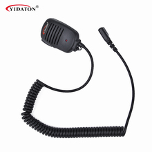 New 2 PIN Handheld PTT Speaker Mic Microphone For IC V8 F21 F11 V82 V85 F26 Radios 10mm With 3.5mm Earphone Plug Walkie Talkie