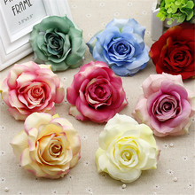 2pcs 10cm Realistic Foam Rose Artificial Flowers For Wedding Car Decoration Mariage Flores Rosa Scrapbooking Pompom Craft Flower(China)