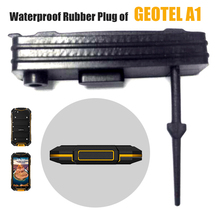HX Waterproof Rubber Plug for Cellphone Geotel A1, USB Charging Port Cover Accesories of Smartphone GEOTEL A1,Black IP67