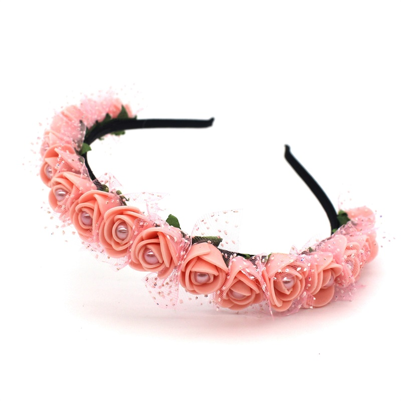 Lanxxy 17 New Fashion Pearl Flowers Hairbands for Girls Women Wedding Bridal Hair Accessories Floral Headbands 18