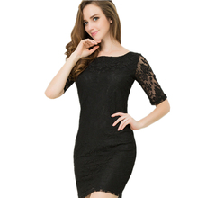Lace Dress Plus Size 2016 New Style Summer Dress Halter Solid Package Hip Sexy Club Party Bodycon Dress Women Sexy Vestido 6XL