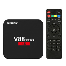 V88 Plus Smart Android 6.0 TV Box RK3229 Quad Core UHD 4K 2G / 8G Mini PC WiFi H.265 Media Player EU/US/UK Plug(China)