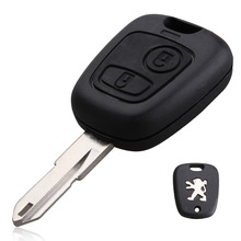 NEW Replacement Remote Key Case Shell Entry Fob 2 Buttons For Peugeot 106 206 306