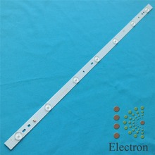 6pcs/lot 32'' 615mm*18mm 7leds LED Backlight Lamps Strips Aluminum plate w/ Optical Lens Fliter for TV Monitor Panel New