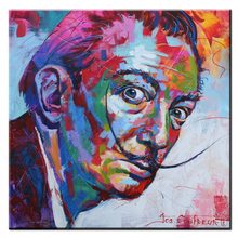 xh356 Salvador Dali Graffiti Pop Art Oil Painting Face Portrait Print Wall Painting For Living room No Frame