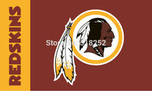 Washington Redskins Logo Flag 3x5 FT 150X90CM Banner 100D Polyester flag brass grommets 022, free shipping