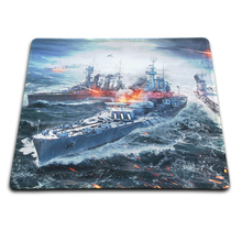Direct Selling Large Gaming Mouse Pad Painting Black Rubber Mousemat Non-slip Optical Speed World of Warships Mice Play Mats