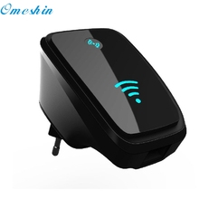 Factory Price 300M Wireless-802.11N Wifi Repeater Network Wlan Router AP WPS Adapter Black 60401 Drop Shipping(China)