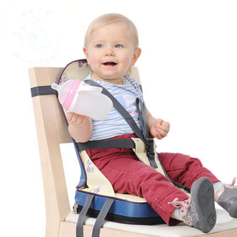 Водонепроницаемое детское сиденье безопасности хлопчато-бумажной ткани стула ужина 3 питательных высоких детских стульчика путешествия стула младенца цветов для ребенка 9-36 месяцев