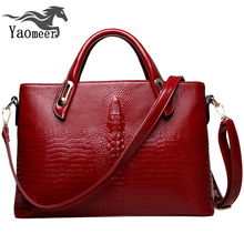 Famous Brand Women Bags Designer Handbags High Quality Pu Leather Alligator Shoulder Crossbody Bag Female Soft Red Tote Handbag