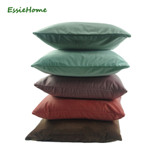 ESSIE HOME High End Velvet Cushion Cover Pillow Case Dusty Pastel Color Collection Cotton Matte Velvet Red Lumber Pillow Case(China)